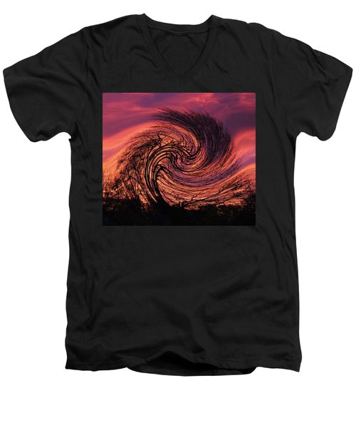 Stormy Abstract Men's V-Neck T-Shirt