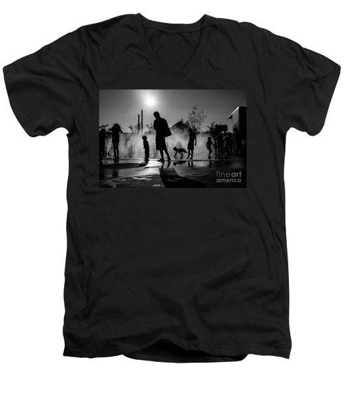 Summer In Paris Men's V-Neck T-Shirt