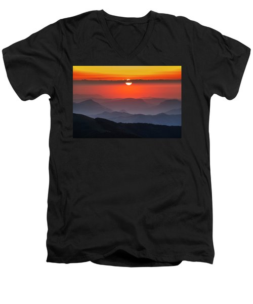Sun Eye Men's V-Neck T-Shirt