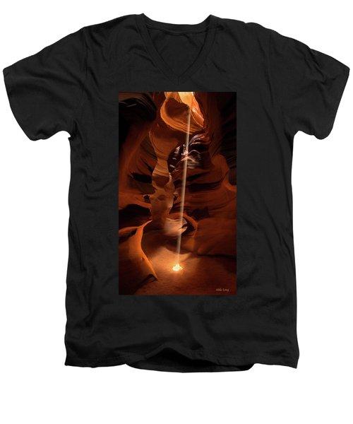 Sunbeam In Upper Antelope Canyon Men's V-Neck T-Shirt