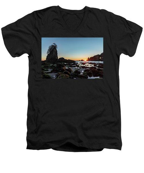 Sunburst At The Beach Men's V-Neck T-Shirt
