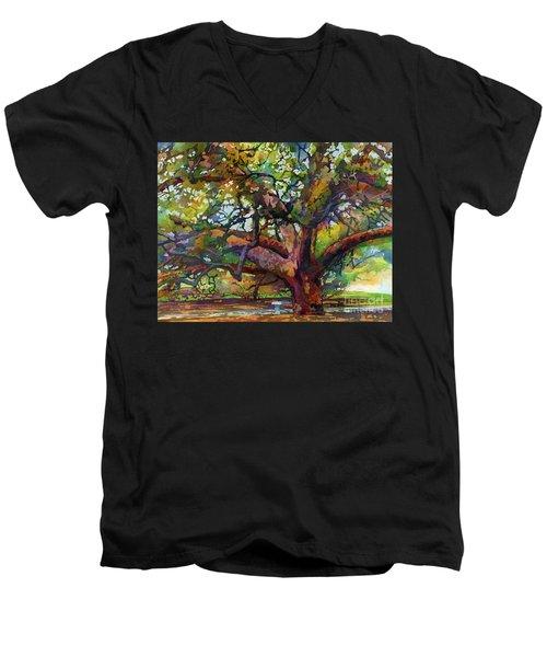 Sunlit Century Tree Men's V-Neck T-Shirt