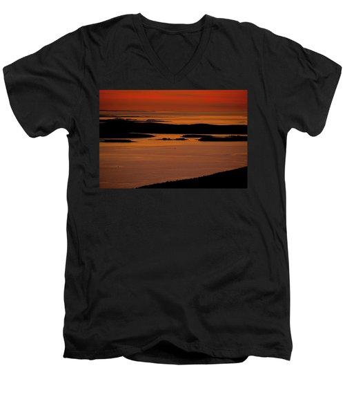 Sunrise Cadillac Mountain Men's V-Neck T-Shirt