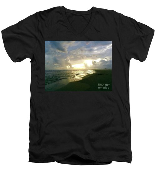 Sunset At The Beach Men's V-Neck T-Shirt