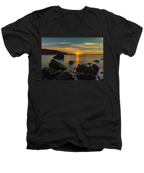Sunset In Balandra Men's V-Neck T-Shirt