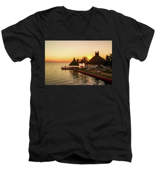 Sunset In Cancun Men's V-Neck T-Shirt