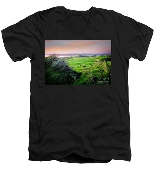 Sunset - Lahinch Men's V-Neck T-Shirt