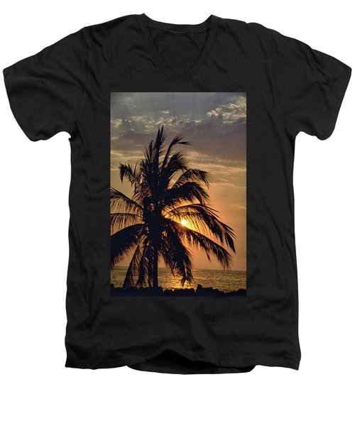 Men's V-Neck T-Shirt featuring the photograph Sunset - Mexico by Rick Veldman