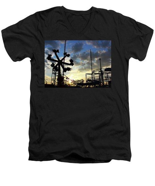 Sunset On Coney Island Men's V-Neck T-Shirt