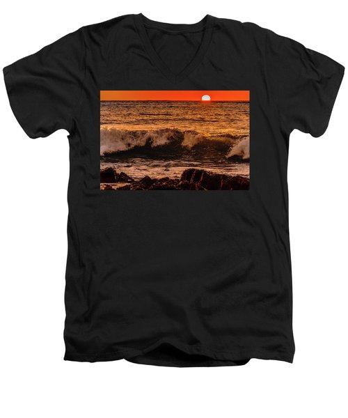 Sunset Wave Men's V-Neck T-Shirt