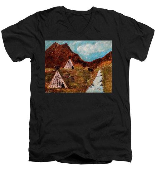 T- Pee Men's V-Neck T-Shirt
