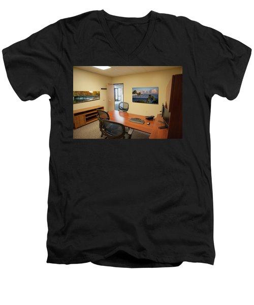Tamara Office East Wall Men's V-Neck T-Shirt