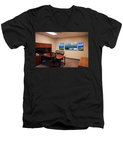 Tamara Office West Wall Men's V-Neck T-Shirt