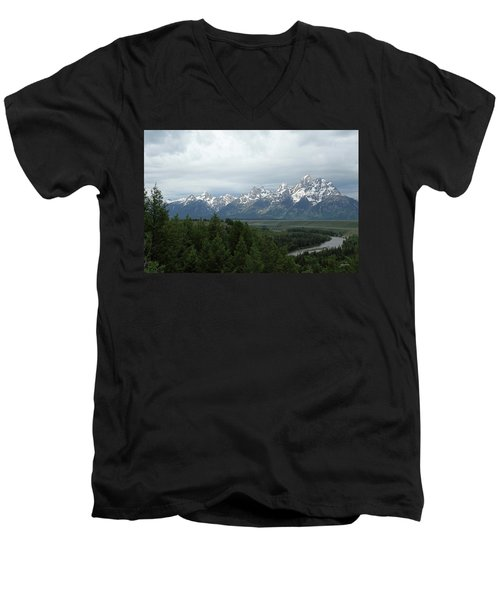 Tetons Men's V-Neck T-Shirt