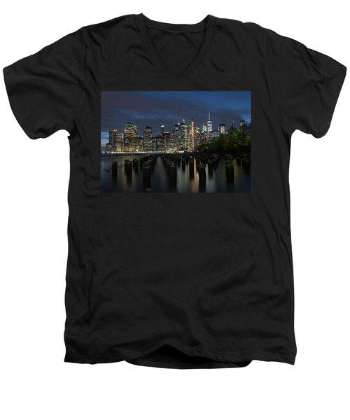 The City Alight Men's V-Neck T-Shirt