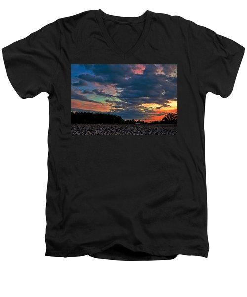 The Cotton Field  Men's V-Neck T-Shirt