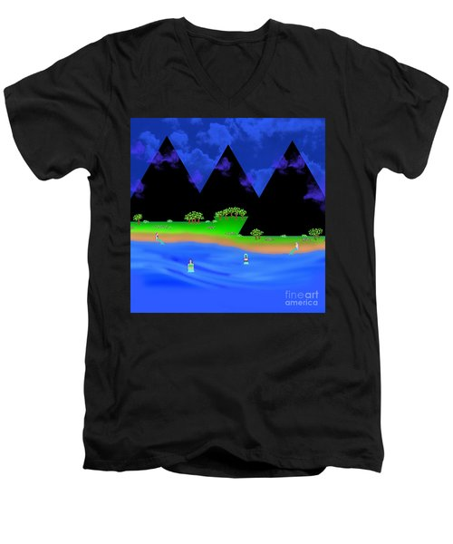 The Gathering Place Men's V-Neck T-Shirt