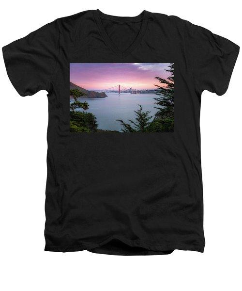 The Golden City  Men's V-Neck T-Shirt