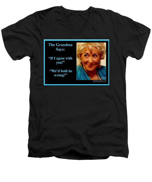 The Grandma Agrees Men's V-Neck T-Shirt