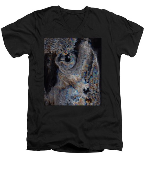 The Old Owl That Watches Men's V-Neck T-Shirt