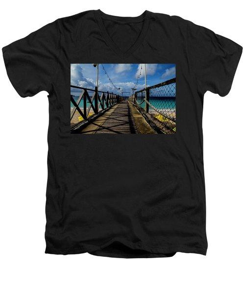 The Pier #3 Men's V-Neck T-Shirt