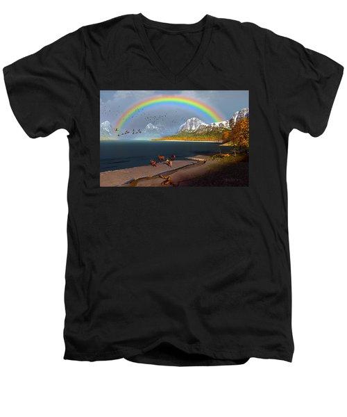 The Rings Of Eden Men's V-Neck T-Shirt