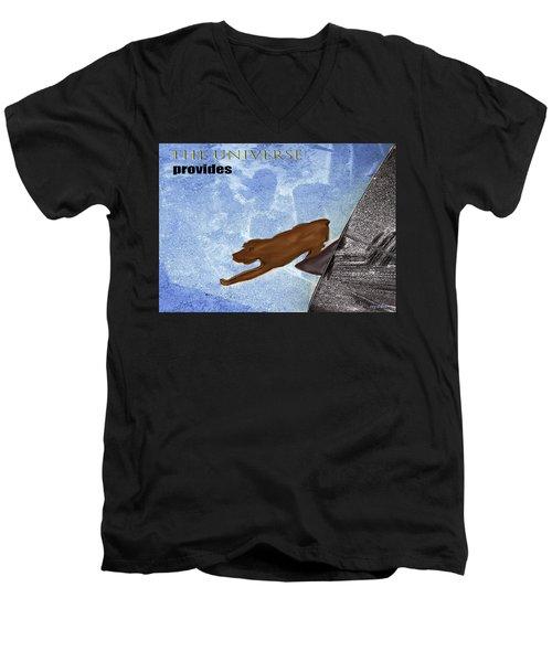 The Universe Provides Men's V-Neck T-Shirt