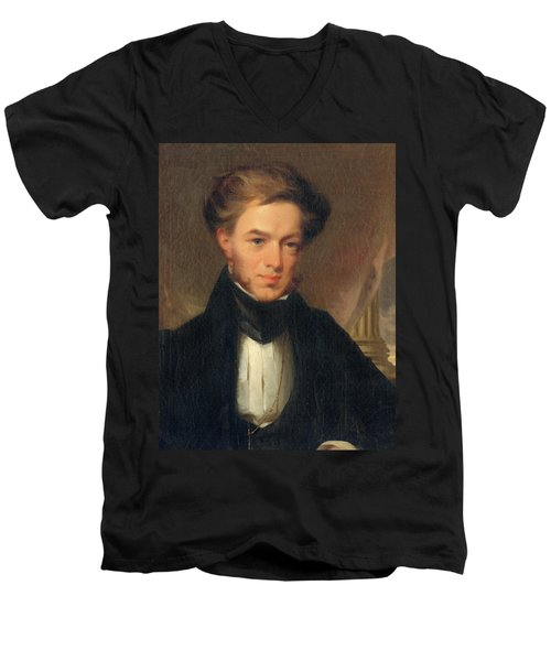 Portrait Of Thomas Ustick Walter, 1835 Men's V-Neck T-Shirt