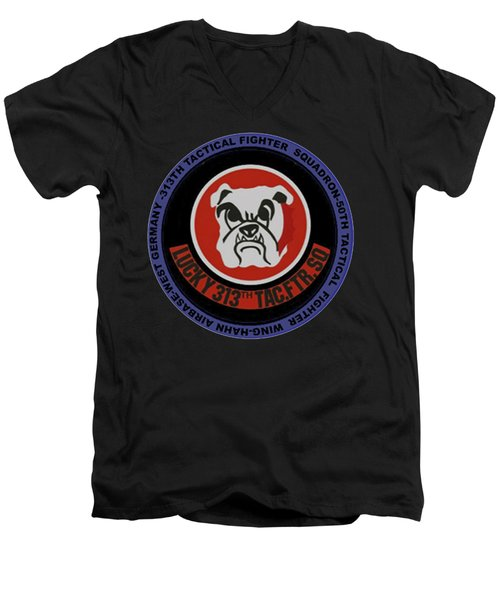 The 313th Tactical Fighter Squadron Men's V-Neck T-Shirt