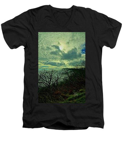 Thunder Mountain Clouds Men's V-Neck T-Shirt