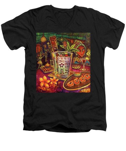 Trader Vic Mai Tai Men's V-Neck T-Shirt