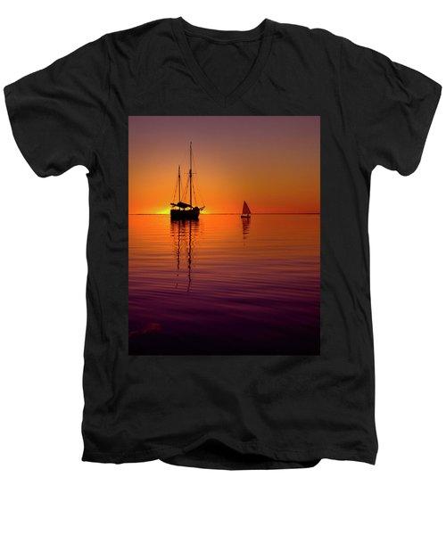 Tranquility Bay Men's V-Neck T-Shirt