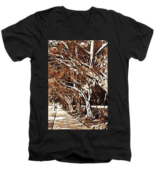 Treelined Men's V-Neck T-Shirt