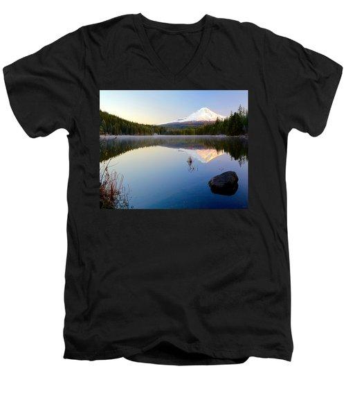 Trillium At Dawn Men's V-Neck T-Shirt