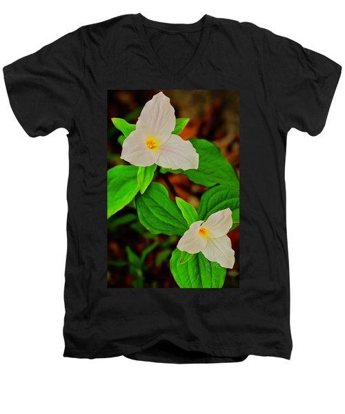 Trilliums Men's V-Neck T-Shirt