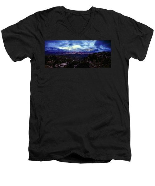 Tucson Twilight Panorama Men's V-Neck T-Shirt