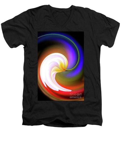 Tulip Twirl Men's V-Neck T-Shirt