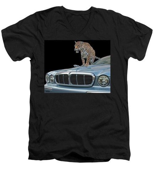 Two Jaguars 1 Men's V-Neck T-Shirt
