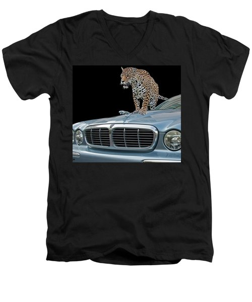 Two Jaguars 1 Men's V-Neck T-Shirt