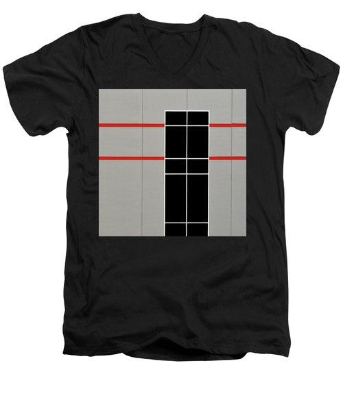 Two Red Stripes Men's V-Neck T-Shirt