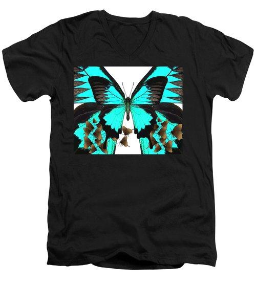 U Is For Ulysses Butterfly Men's V-Neck T-Shirt