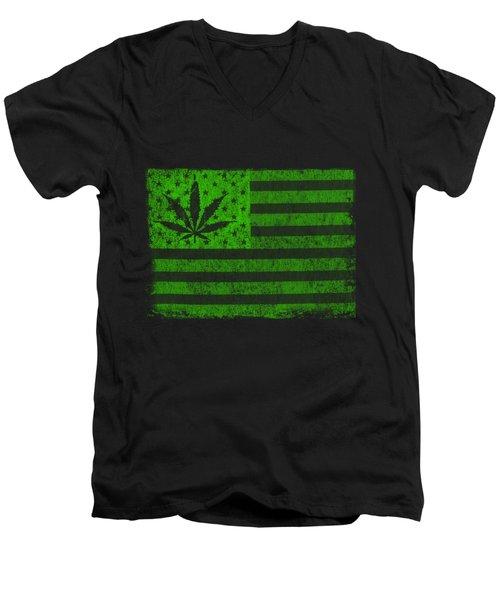 United States Of Cannabis Men's V-Neck T-Shirt