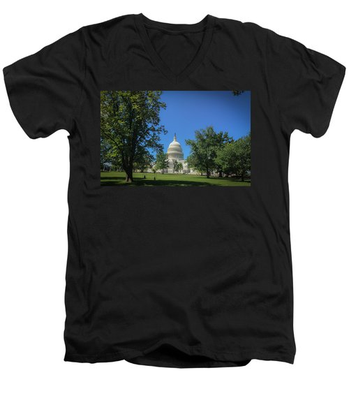 Us Capitol Men's V-Neck T-Shirt