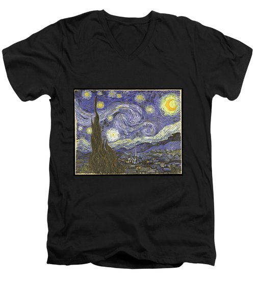 Van Goh Starry Night Men's V-Neck T-Shirt