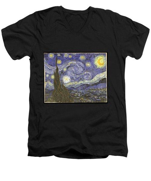 Van Goh Starry Night Men's V-Neck T-Shirt