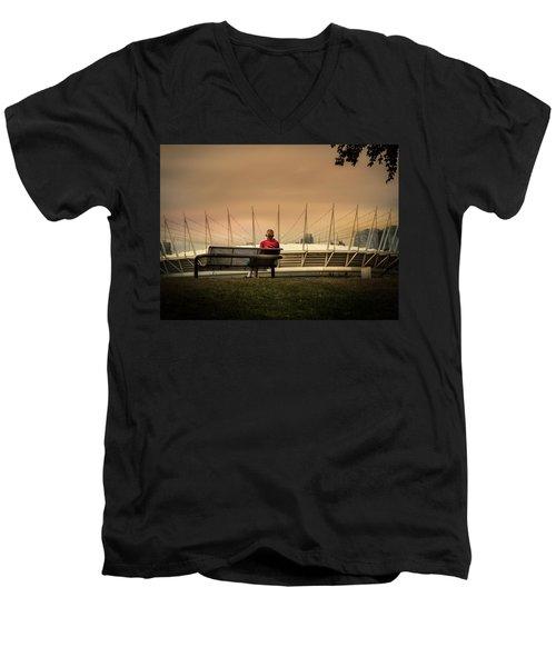 Vancouver Stadium In A Golden Hour Men's V-Neck T-Shirt