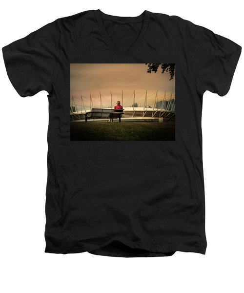 Vancouver Stadium In A Golden Hour Men's V-Neck T-Shirt