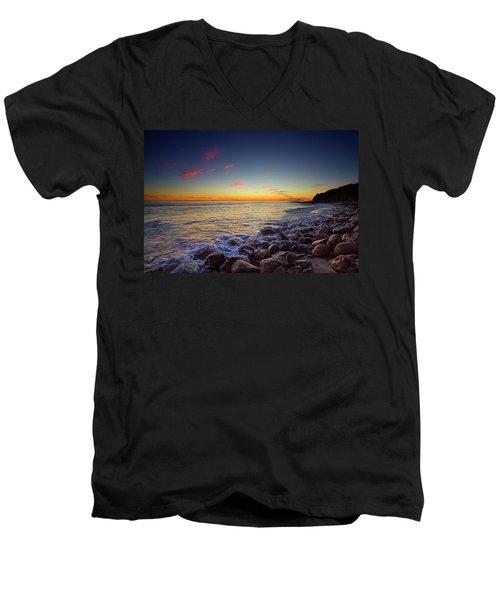 Ventura Sunset Men's V-Neck T-Shirt