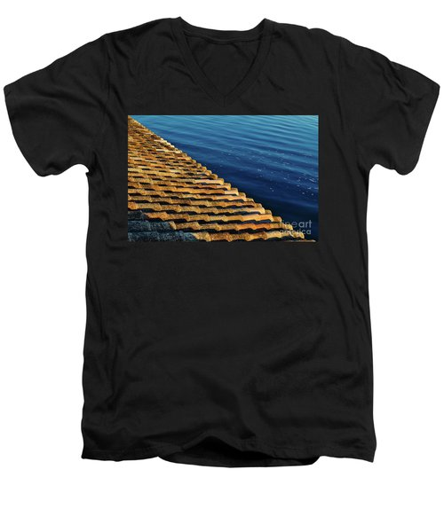 View Of The River From The Rooftop. Algarve Men's V-Neck T-Shirt