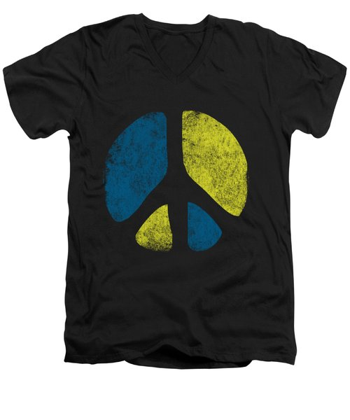 Vintage Peace Sign Men's V-Neck T-Shirt